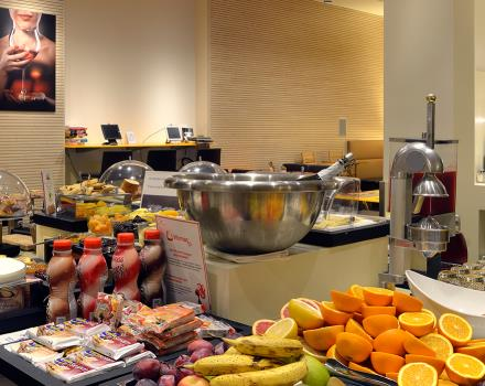 Many fresh products, breakfast at BW PLUS City Hotel of Genoa